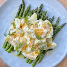 Grilled Asparagus & Egg Salad