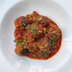 Mini Meatballs with Eggplant-Tomato sauce