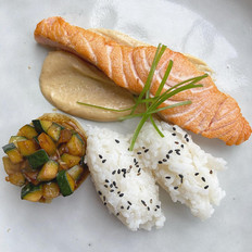 Seared Salmon with Miso Mayonnaise