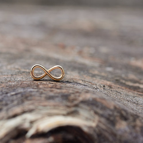 Infinity Symbol Threadless end solid 14k BVLA
