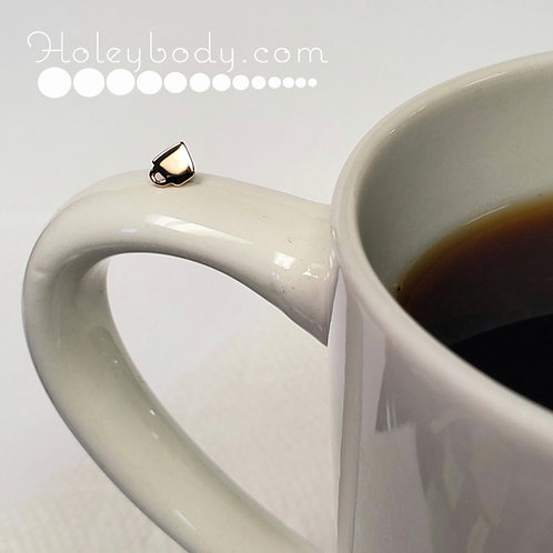 Coffee Cup Threadless solid 14k Rose Gold BVLA