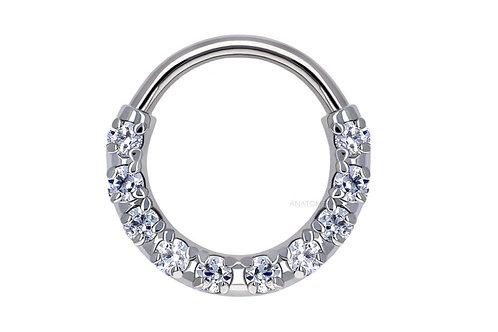 "Solid Gold 240° Transition Ring 18g 5/16"" (Nipple Orientation)  Anatometal"