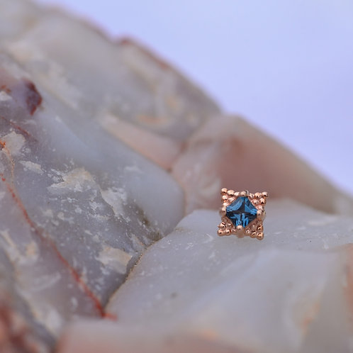 Princess Mini Kandy solid Rose Gold with London Blue Topaz