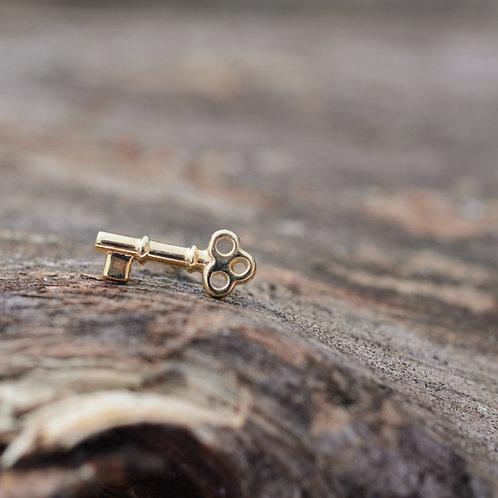 Tiny Key Threadless End 14k BVLA