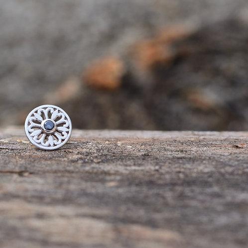 Maira Genuine Black Diamond set in Solid 14k White gold