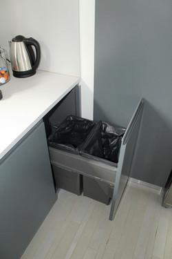vue poubelle intégrée