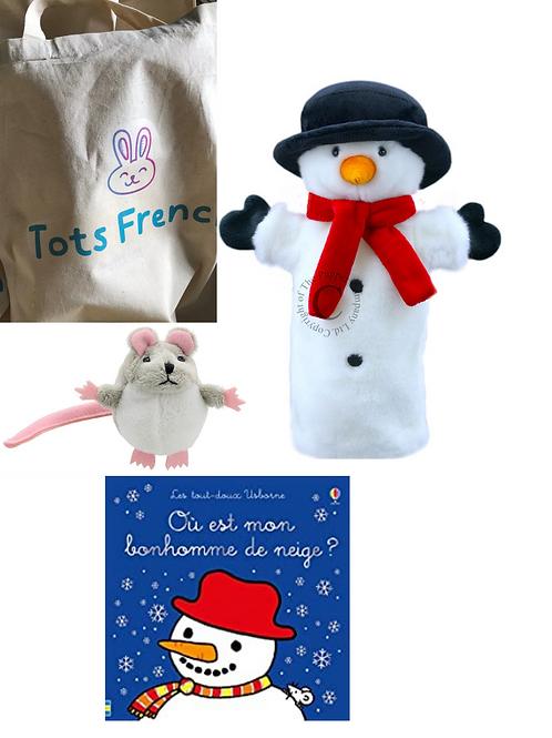 Special Christmas story sack: Où est mon bonhomme de neige?
