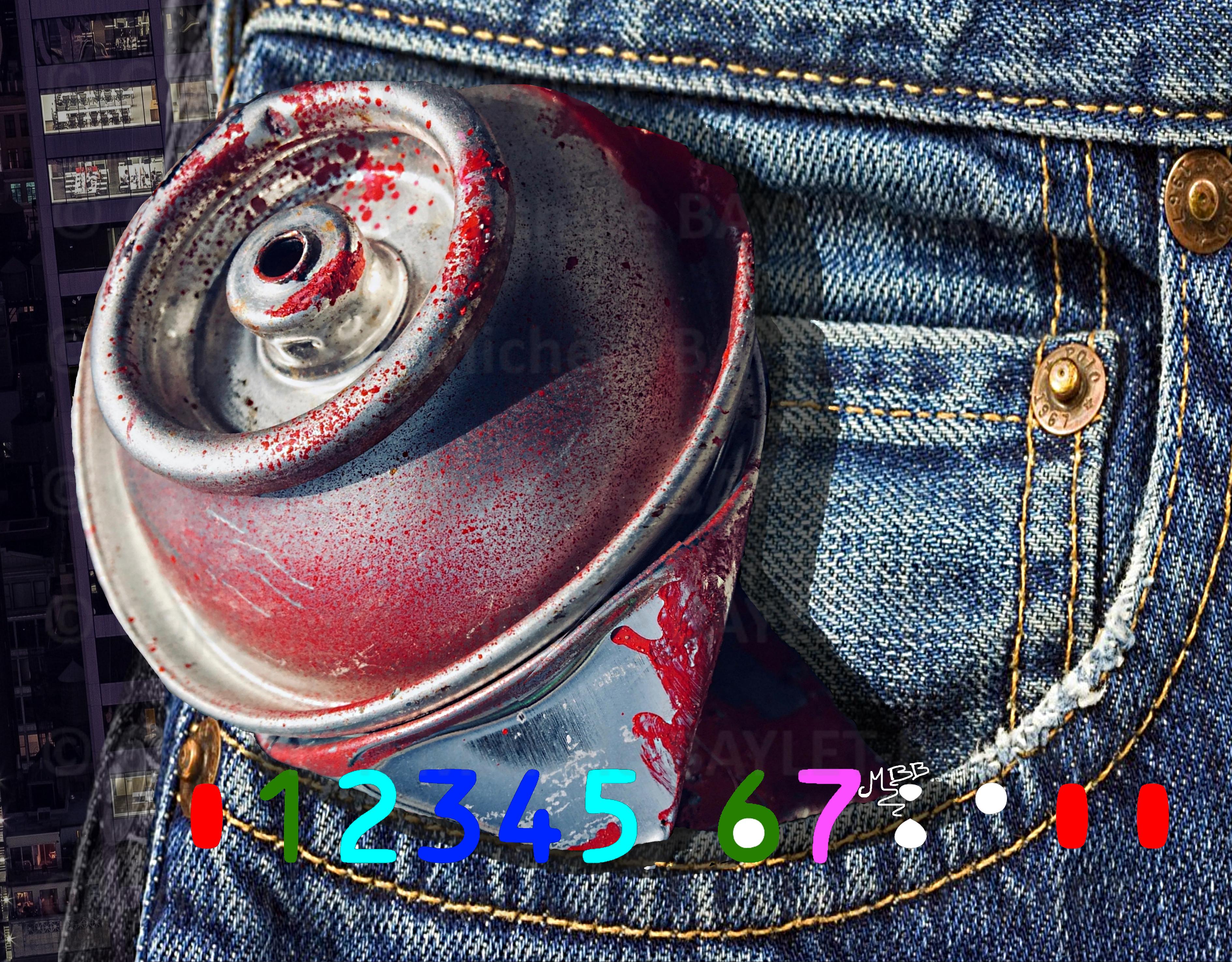 Peinture graffiti en jean