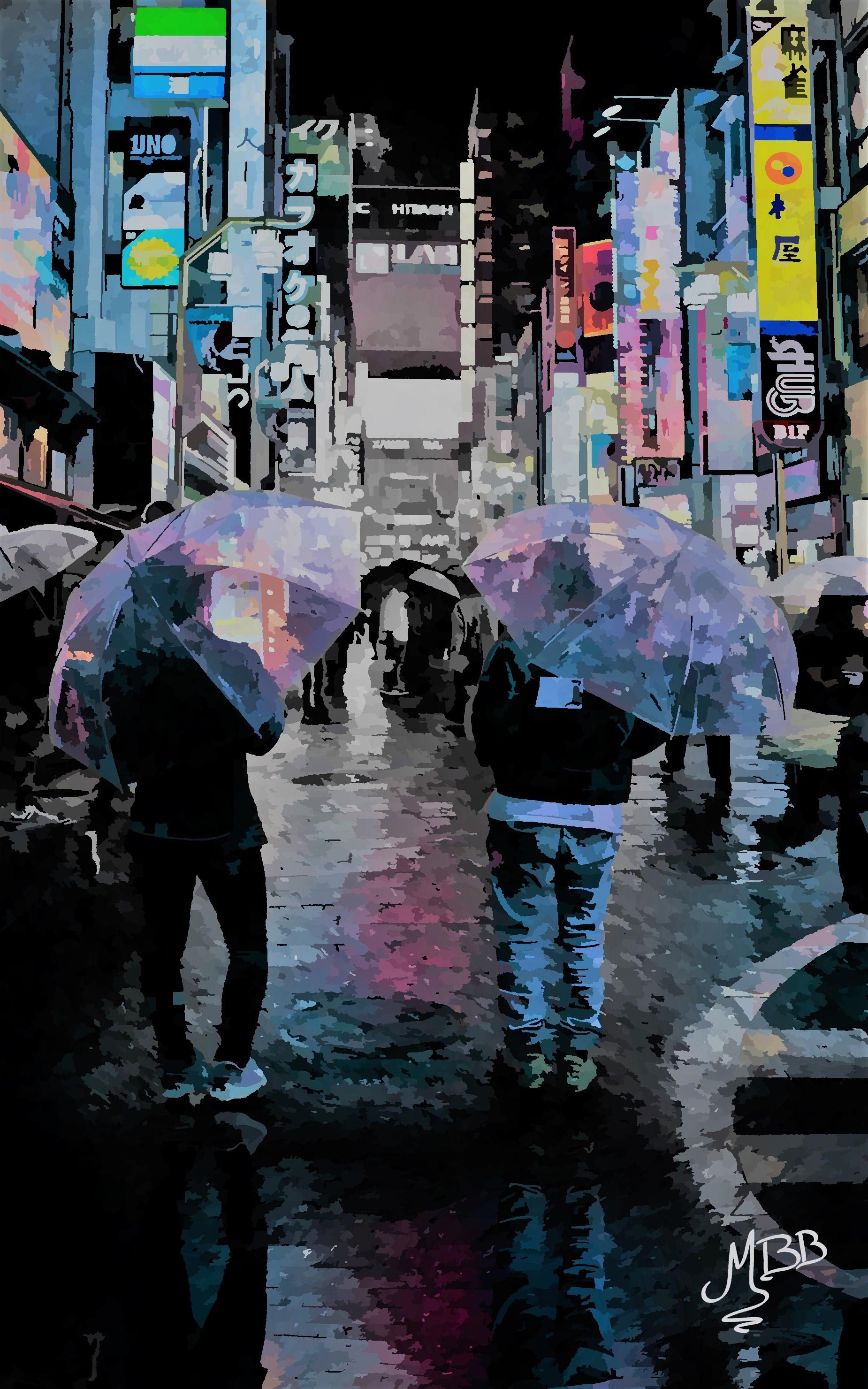 Umbrella farandole