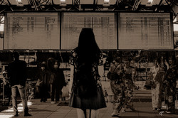 Airport waiting attitude