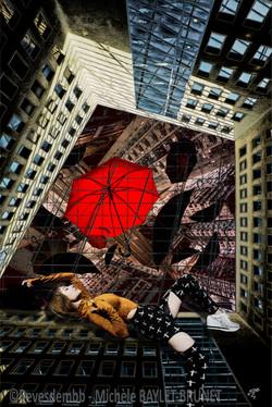 Umbrellas swirl