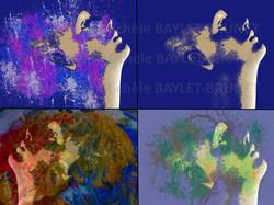Pop art - pensee coloree