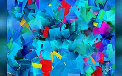 Blue cubism