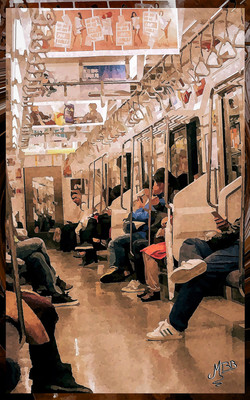 Inside the subway