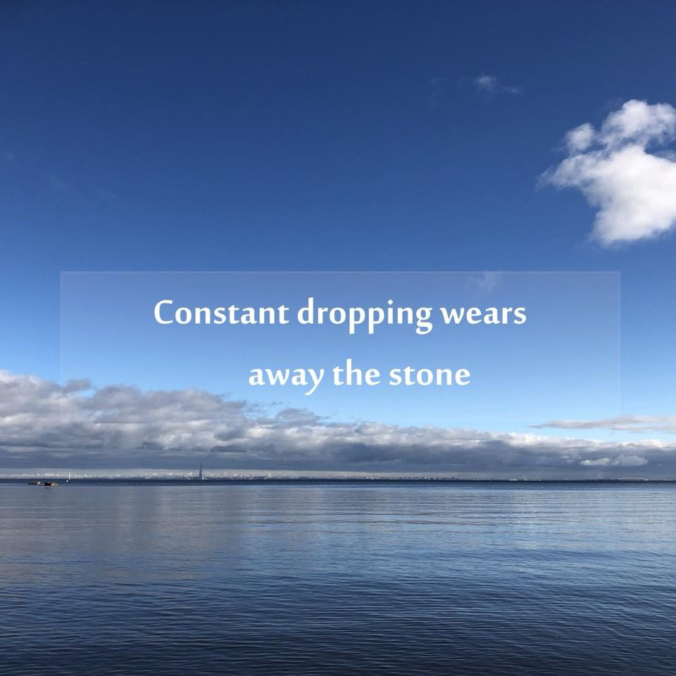 Constant dropping wears away the stone │滴水穿石