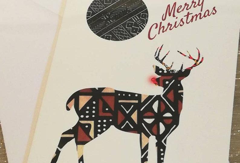 African Reindeer Christmas Card