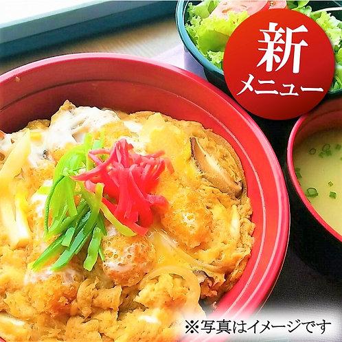 9月4日(水)海老と牛蒡かき揚げ卵とじ丼 + 味噌汁