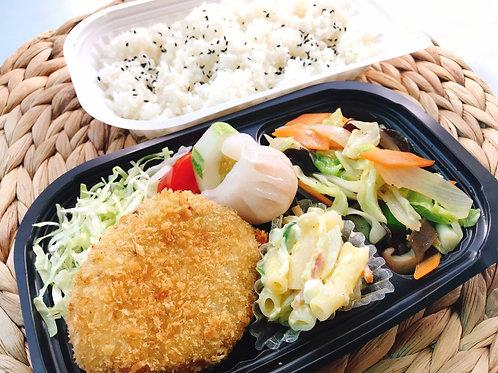 10月9日(水)絶品!牛肉コロッケ・豚バラ入野菜炒め弁当