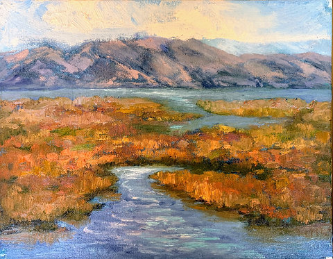 """Marshland View Towards the Bay"" by Robin Dosskey"