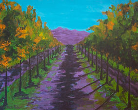"""California Vineyard"" by Rona Foster"