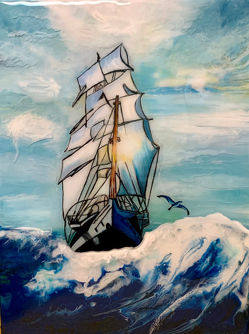 """On Life's vast journey diversely we sail"" by Yelena Joy"