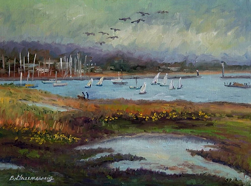 """""""Wetlands by the Harbor"""" by Barbara Greensweig"""