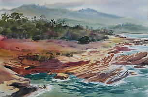 """Sand Hill Cove, Point Lobos"" by Veronica Gross"