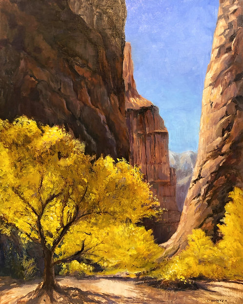 """""""Cottonwood Canyon"""" by LaRhee Webster"""