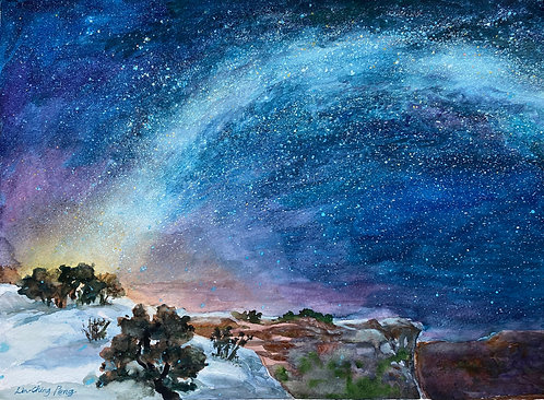"""""""Starry Starry Night in the Grand Canyon"""" by Lin C Peng"""