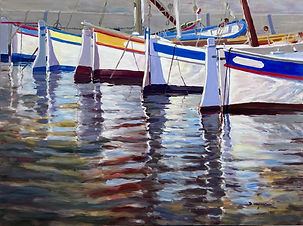 """Harbor Reflections"" by Doriane Heyman"