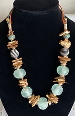 """""""Necklace with Ghana Sea Glass"""" by Lana Potels"""