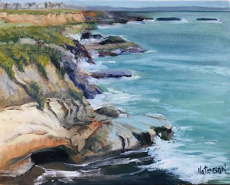 """""""Santa Cruz Cliffs & Ocean"""" by Denise Natanson-Marcus"""