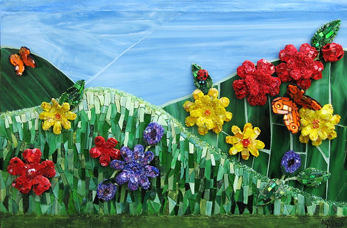 """""""Flowers on the Hill"""" by April Maiten"""