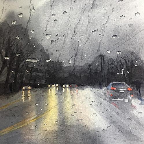"""Rain in San Jose"" by Mohana Pradhan"