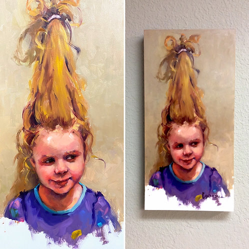 """""""Hanging on by a Hair"""" by Laurie Johnson Lepkowska"""
