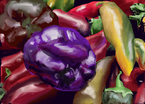 """""""Market Peppers"""" by Linda Maki"""