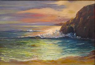 """Sunset on Cove Beach"" by Cathy Zander"