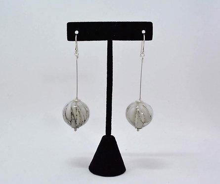 """Hand Blown Glass Bead Earrings"" by Stefanie Briscoe"