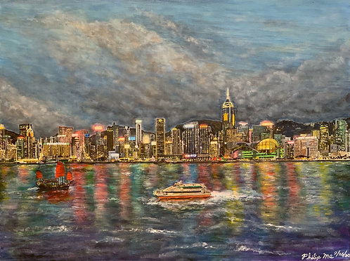 """Hong Kong Harbor"" by AbilityPath Gatepath"
