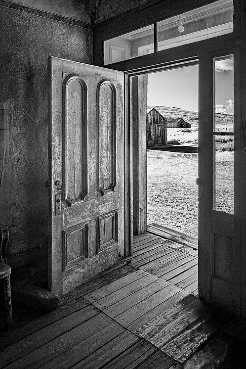 """Cabin Door Open to Ghost Town"" by Tom Green"