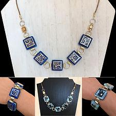 """Convertible/Reversible Glass Tile Necklace/Bracelet"" by Kathleen Bonte"