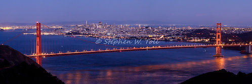 """Golden Gate Bridge at Dusk"" by Stephen Toll"