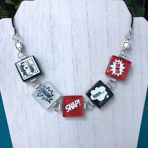 """""""Pop-Art Inspired Glass Tile Necklace/Bracelet"""" by Kathleen Bonte"""