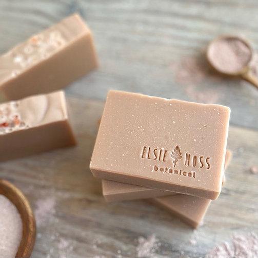 Pink Clay Face & Body Bar with Ylang Ylang, Petitgrain & Clary Sage