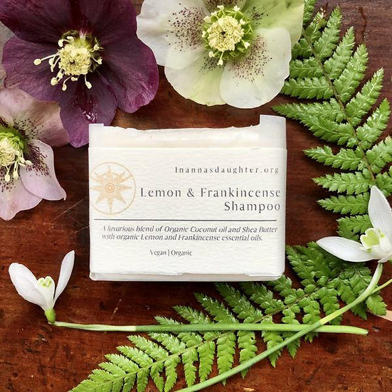 Lemon & Frankincense Solid Shampoo Bar - For normal to oily hair