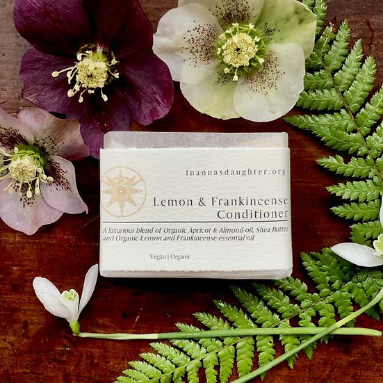 Lemon & Frankincense Conditioner Bar - For normal to oily hair
