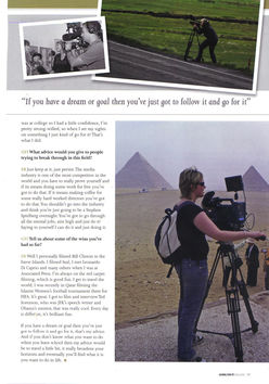 Going for it! Emma Brumpton - Video Journalist & News Producer Issue 1 2010 Page 2