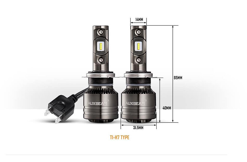 LED Headlamp bulb T1-H7 Auxbeam