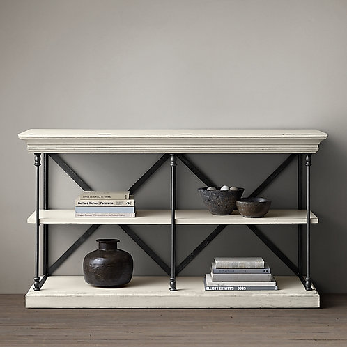 RESTORATION HARDWARE- PARISIAN CORNICE CONSOLE TABLE