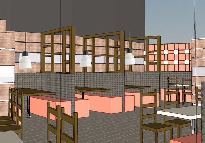 Partitioned Dining Area